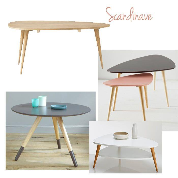 Faire table basse scandinave for Table salon style scandinave