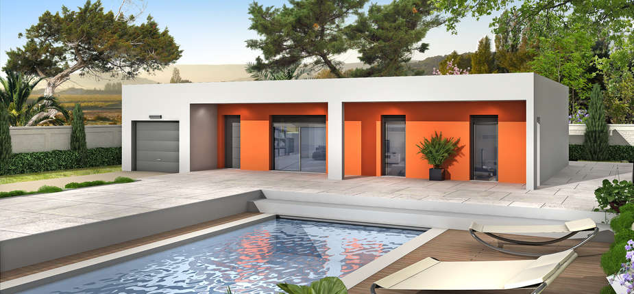 Une gamme compl te de maisons contemporaines villas club for Modele de maison contemporaine toit plat