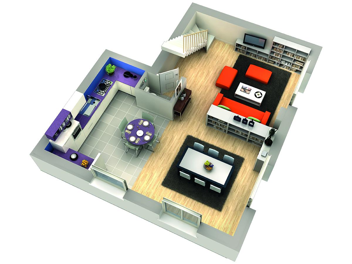 modele de maison airelle rdc