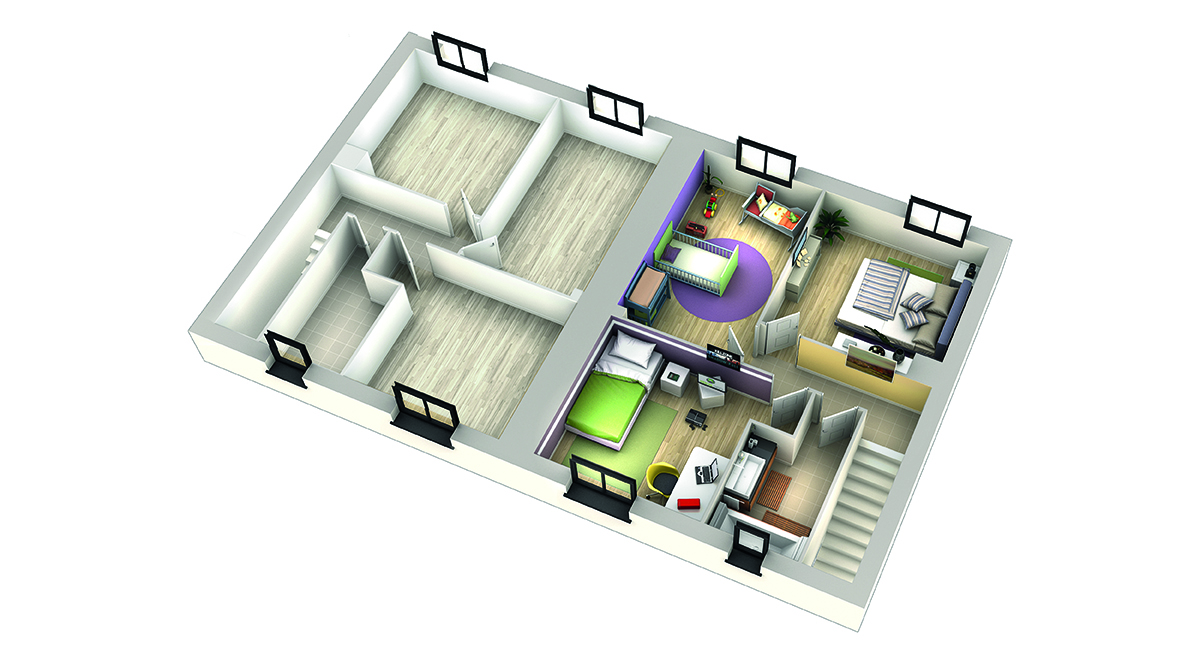 Plan maison contemporaine cumbava ardoise villas club for Modele de maison a etage
