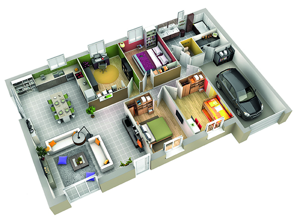 Plan Maison Contemporaine Cumin Ardoise Villas Club