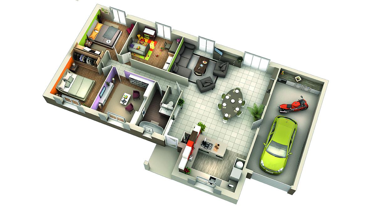Modele de maison interieur for Modele interieur maison