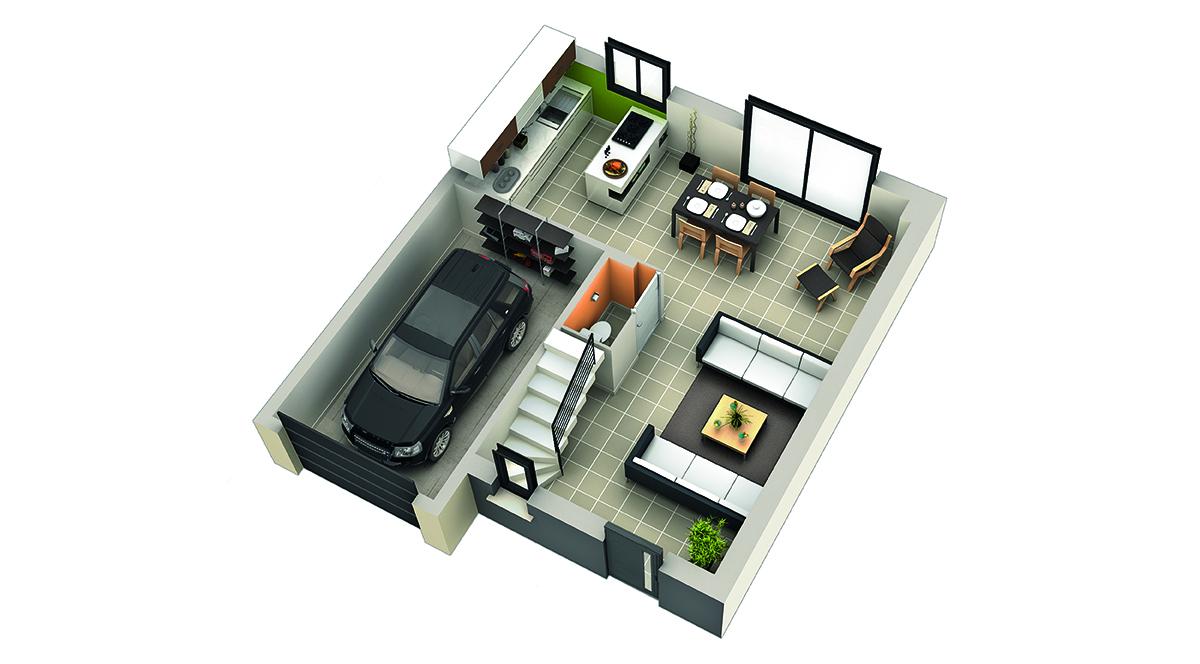 modele de maison grenadelle rdc