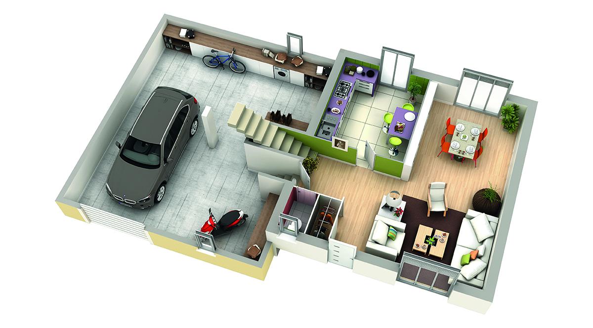 modele de maison nefle rdc