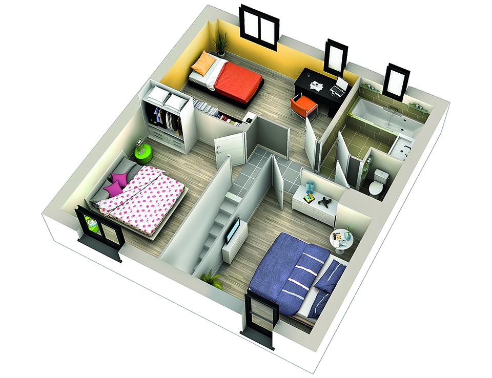 modele de maison pepino etage
