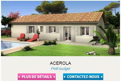 Nouvelle navigation page modèle maison Acerola - Villas Club