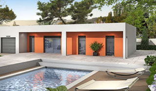 maison contemporaine de plain-pied wasabi - Villas Club