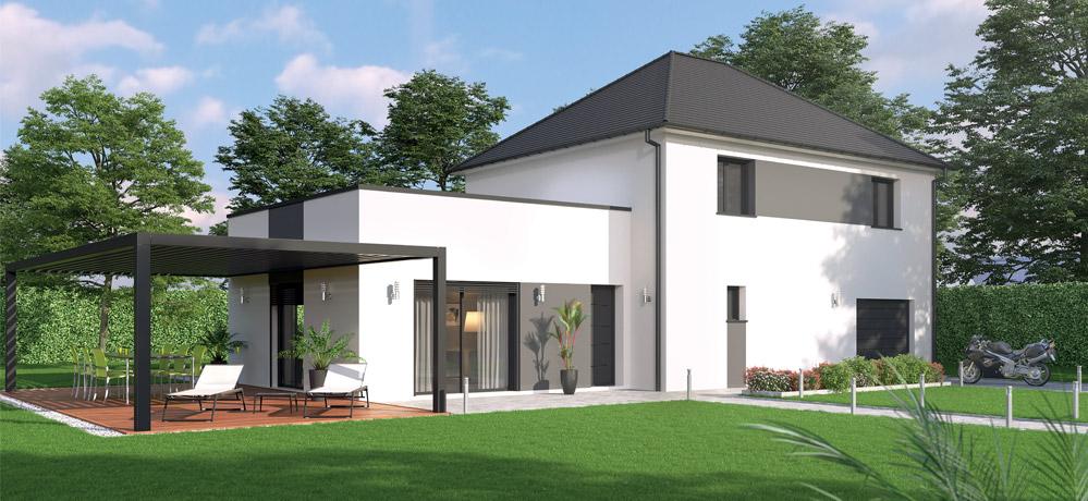 Maison moderne sur plan