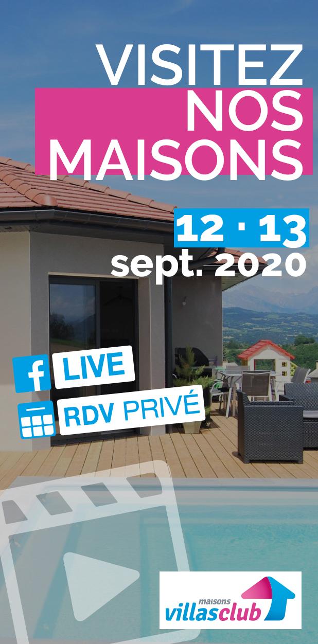 Visitez nos maisons 12 et 13 septembre