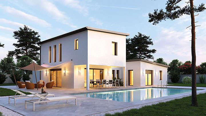 constructeur maison contemporaine villas club lyon. Black Bedroom Furniture Sets. Home Design Ideas