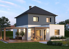Plan Maison Contemporaine, modèle YUZU Contemporaine |Villas ...