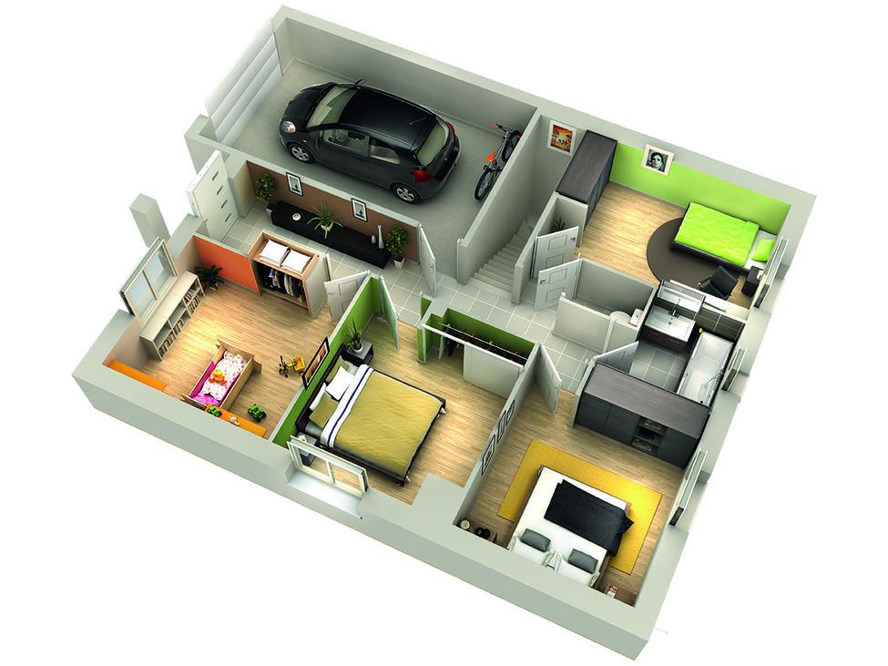 modele de maison airelle etage