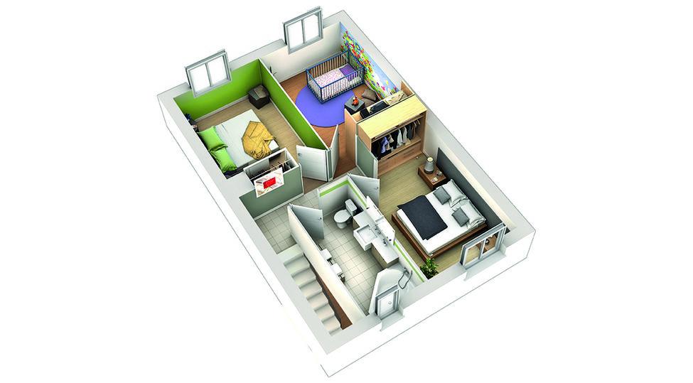 modele de maison goyave plan etage