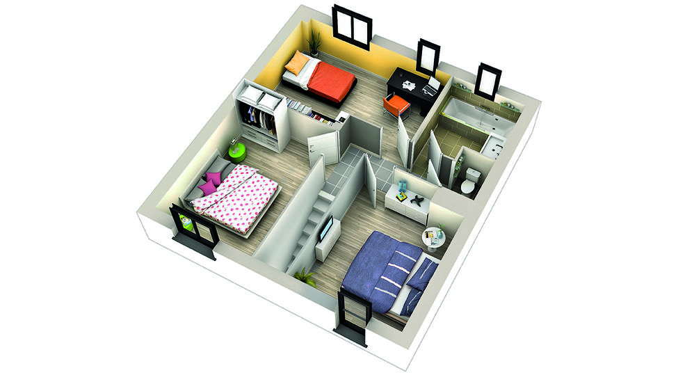 modele de maison grenadelle etage