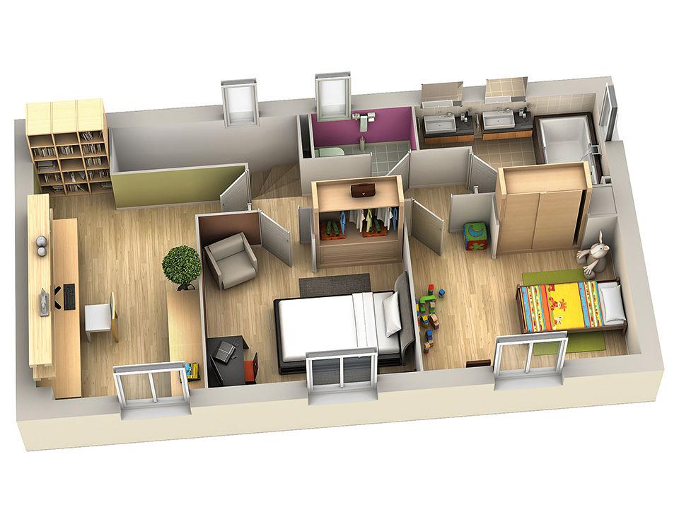 modele de maison safran etage